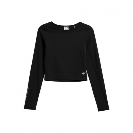 Dámské tréninkové tričko s dlouhým rukávem 4F-WOMENS LONGSLEEVES H4Z21-TSDL013-20S-DEEP BLACK