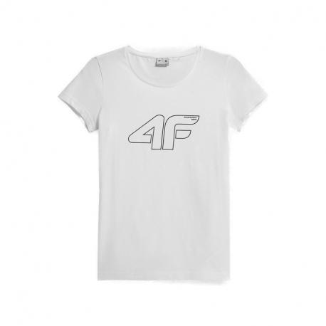 Dámské triko s krátkým rukávem 4F-WOMENS T-SHIRTS H4Z21-TSD028-10S-WHITE