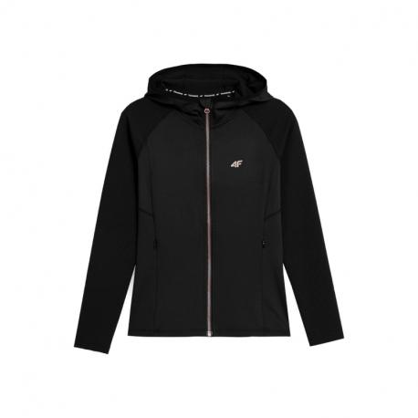 Dámská tréninková mikina se zipem 4F-WOMENS FUNCTIONAL Sweatshirts H4Z21-BLDF012-20S-DEEP BLACK