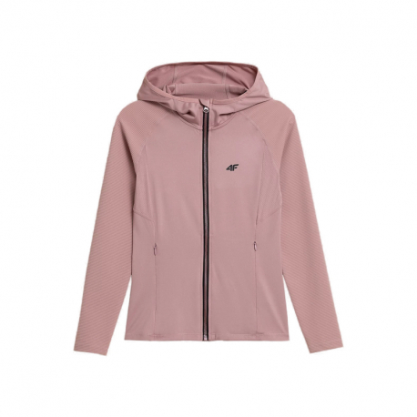 Dámská tréninková mikina se zipem 4F-WOMENS FUNCTIONAL Sweatshirts H4Z21-BLDF012-56S-LIGHT PINK