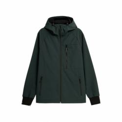Pánska turistická softshellová bunda 4F-MENS SOFTSHELLS H4Z21-SFM002-40S-Green