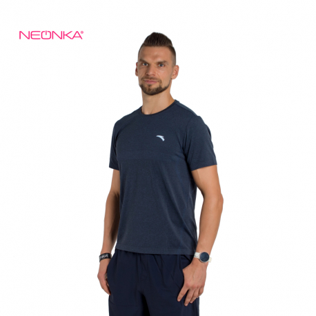 Pánské běžecké tričko s krátkým rukávem ANTA-SS Tee-MEN-852125105-4-Norse Blue / Heather Grey