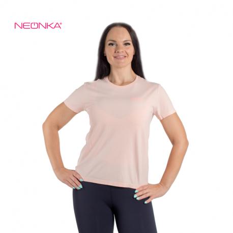 Dámské běžecké tričko s krátkým rukávem ANTA-SS Tee-WOMEN-862125120-1-Fall Rainbow Powder / Heather Grey