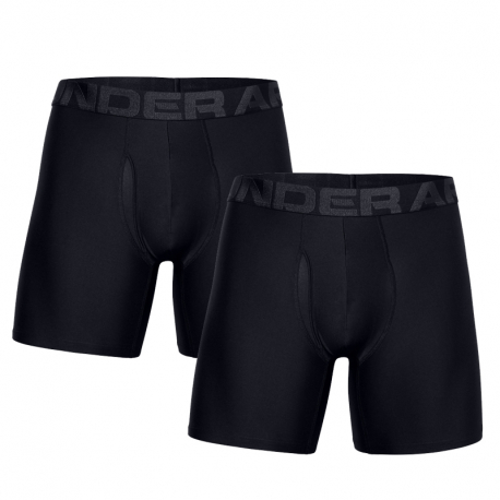 Pánské boxerky UNDER ARMOUR-UA Tech 6in 2 Pack-BLK