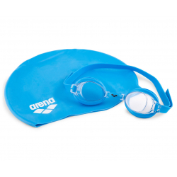 Chlapčenské plavecké okuliare a čiapka ARENA-POOL SET JUNIOR