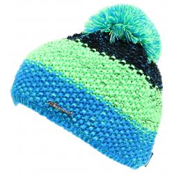 Dámska zimná čiapka BLIZZARD-Tricolor CAP black/green/blue-melange W