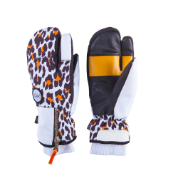 Dámske lyžiarske rukavice CELTEK-rukavice CELTEK Hello Operator 8635 leopard