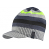 ADIDAS-STRIPED VISOR B BLACK/GREY/GREEN