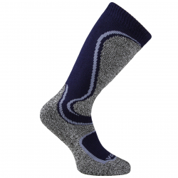 Juniorské lyžiarske podkolienky (ponožky VOXX-Carving boy blue/grey