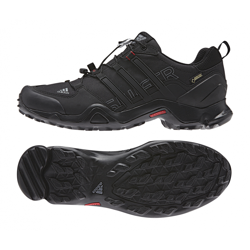 Pánska turistická obuv nízka ADIDAS-TERREX SWIFT R GTX CBLACK VISGRE POWRED  - 1dad893828f