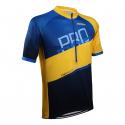 Pánsky cyklistický dres s krátkym rukávo ONLYXBIKE-cyklo dres MILANO - Blue-Yellow -