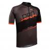 ONLYXBIKE-cyklo dres MILANO - gray-orange