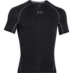 Pánské tréninkové triko s krátkým rukávem UNDER ARMOUR-UA HG ARMOUR SS-BLK