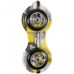 Kolieska, ložiská a vymedzovač RADICAL-Náhradné kolieska 100x24, ABEC 7, 87A PU.