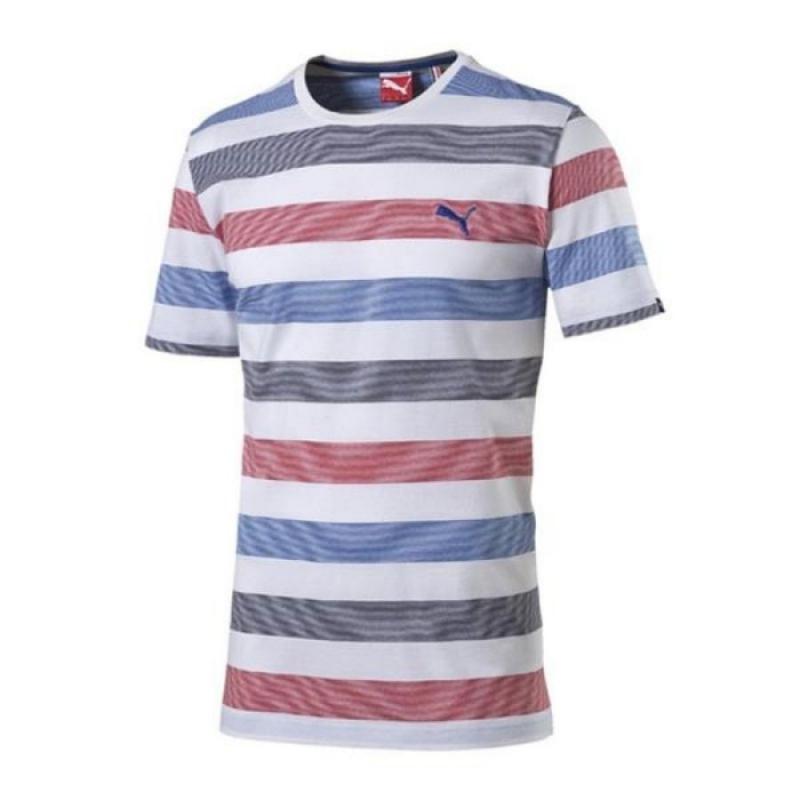 c730354563c8c Pánske tričko s krátkym rukávom PUMA-FUN Stripe Tee -