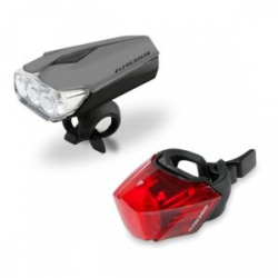 Cyklistické svetlo KROSS-Light set LUMI SET II GYfront 3LED, rear 3LED