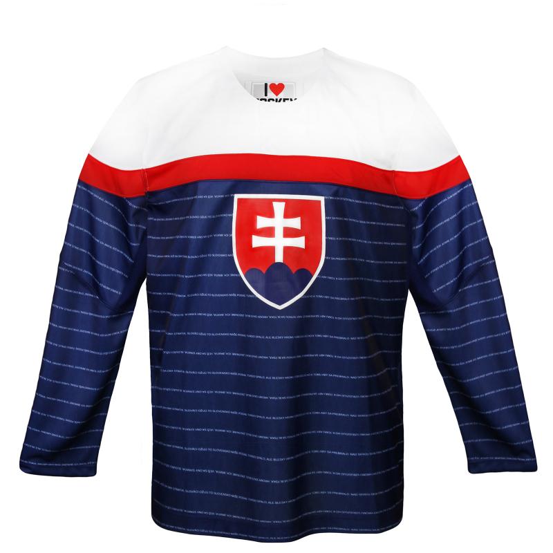 217ca1fca30 Hokejový dres EXISPORT-HOCKEY DRESS BLUE - Replika reprezentačného hokejového  dresu Slovenska v modrom prevedení