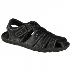 Pánska módna obuv LANCAST Black sandal velcro 1 8e78b54e622