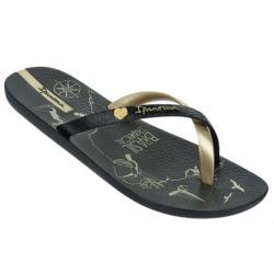 Dámska plážová obuv IPANEMA-Charme Made in Brazil black- gold