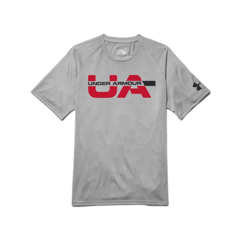 Pánske tréningové tričko s krátkym rukáv UNDER ARMOUR-UA Workdmark  Strikethrough - 32139e3b6a8