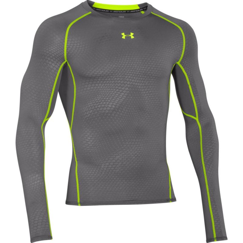 Pánske tréningové tričko s dlhým rukávom UNDER ARMOUR HEATGEAR LONG SLEEVE  COMPRESSION PRINTED - 6677ea44b76