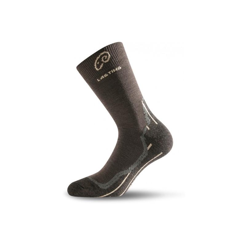 Turistické ponožky LASTING WHI 721 BROWN - Stredne silné predĺžené trekingové  ponožky značky Lasting obsahujúce merino 55bbbe2b2d