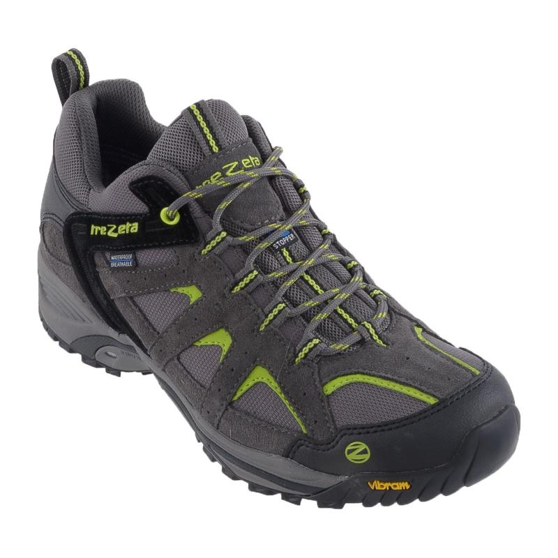 2d77a8751583 Pánska turistická obuv nízka TREZETA-BORNEO LOW WS GREY LIME -