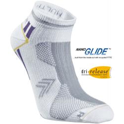 Bežecké ponožky SEGER Running Thin Multi No Show White/Purple
