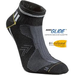 Bežecké ponožky SEGER Running Thin Multi No Show Black/Grey