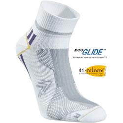 Bežecké ponožky SEGER Running Thin Multi Low Cut White/Purple