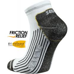 Bežecké ponožky SEGER Running Mid Comfort No Show White/Black