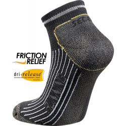 Bežecké ponožky SEGER Running Mid Comfort No Show Black/Grey