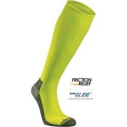 Bežecké kompresné podkolienky SEGER Running Mid Compression Neon Yellow