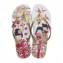 Dámska plážová obuv IPANEMA-Unique III white/red - Dámska obuv značky Ipanema so zaujímavým trendy dizajnom.