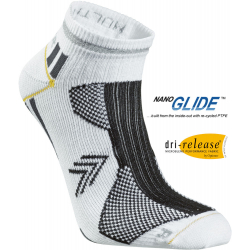 Bežecké ponožky SEGER Running Thin Multi No Show White/Anthracite