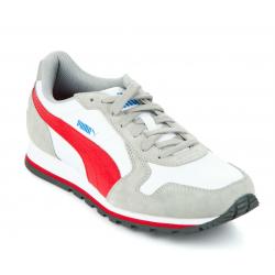 PUMA-ST Runner L limestone gray-high risk red