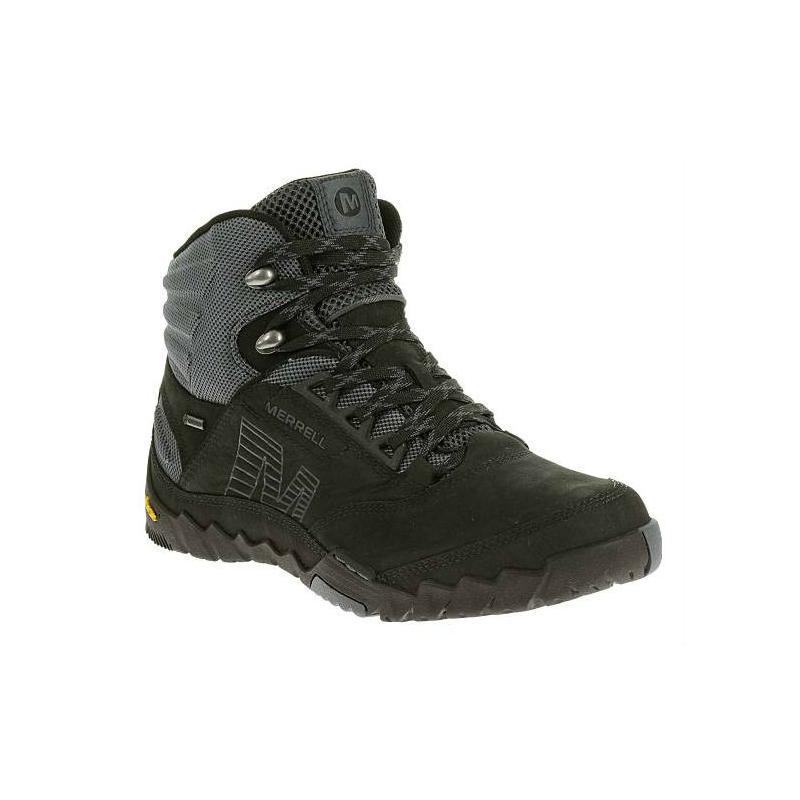 fa51b2a2d4b7 Pánska turistická obuv stredná MERRELL-ANNEX MID GORE-TEX BLACK -
