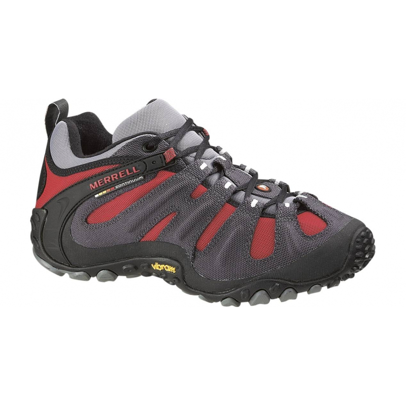 dfcb2d1a827f Pánska turistická obuv nízka MERRELL-CHAMELEON WRAP SLAM GREY   RED -