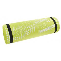 Fitness podložka LIFEFIT YOGA MAT EXKL+,180x60x1,5,zelena