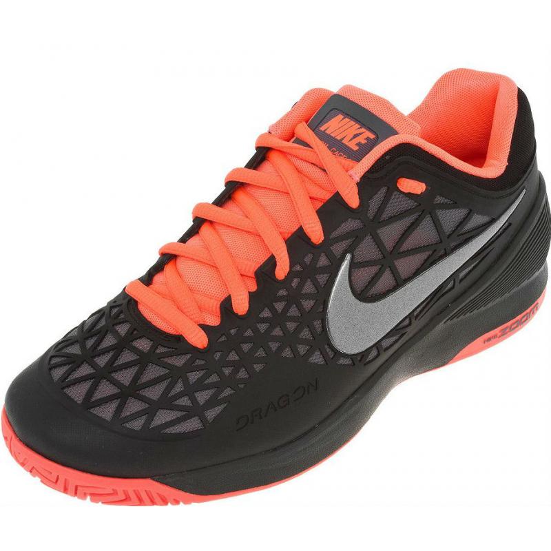 c5b05d80cbe3e Pánska tenisová obuv NIKE-ZOOM CAGE 2 BLACK MTLC DARK GREY-HOT LAVA