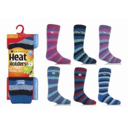 Detské ponožky HEAT HOLDERS-Detské ponožky pásik 27-30 mix