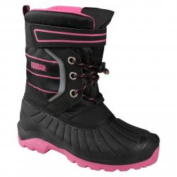 Zimná obuv vysoká KODIAK-BECKY TPR 3 EYELET BLK/PINK