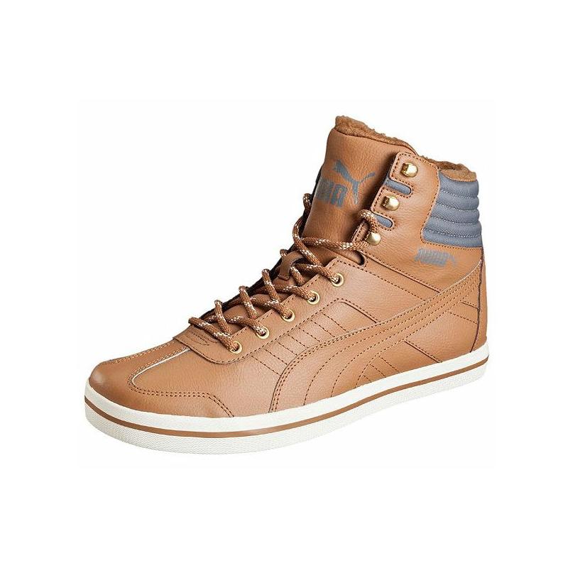 19e5fe9d00836 Pánska zimná obuv stredná PUMA-Tatau Sneaker Boot chipmunk brown-chipmu -