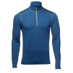 Termo tričko s dlhým rukávom THERMOWAVE-Mens long sleeve shirt 12/ zip merino blue