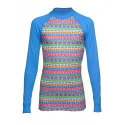 Juniorské termo tričko s dlhým rukávom THERMOWAVE-JUNIOR ACTIVE-Blue