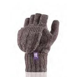 Dámske rukavice HEAT HOLDERS-Dámske rukavice bezprstové hnedé