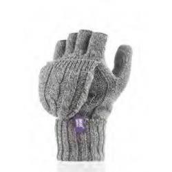 Dámske rukavice HEAT HOLDERS-Dámske rukavice bezprstové šedé