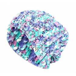 Dámska zimná čiapka PUMA-Womens Colour Knit Beanie IRIS BLUE FA 15