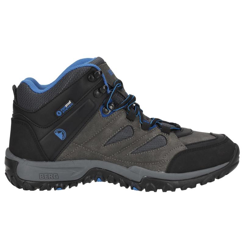 0dcd6e8b7138 Pánska turistická obuv stredná BERG OUTDOOR-MACAQUE MID MN GR OD RAVEN -