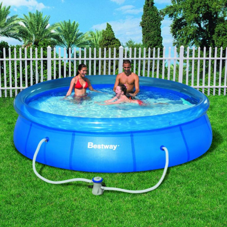 bestway 12x30 fast set pool set exisport eshop. Black Bedroom Furniture Sets. Home Design Ideas